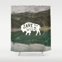 Save the Wild Shower Curtain