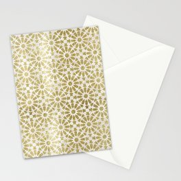 Hara Tiles Gold Stationery Cards