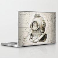 scuba Laptop & iPad Skins featuring scuba diving by Luiz Fogaça