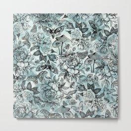 Botanical Pattern Metal Print