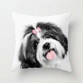 Dog print, Shih Tzu Print Throw Pillow