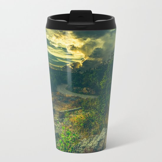 Road to oblivion Metal Travel Mug