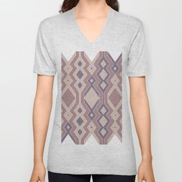 Tribal shapes 1.1 - Autumn colors Unisex V-Neck