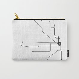 Chicago Subway White Map Carry-All Pouch