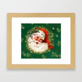 Bubble Dot Santa Christmas Framed Art Print