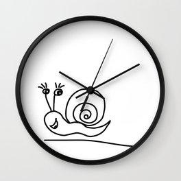 Funny Little Snail Wall Clock
