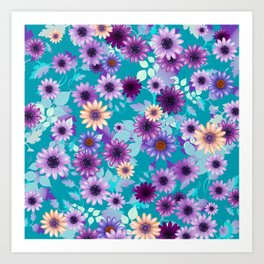 Multicolored natural flowers 7 Art Print