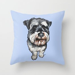 Barney the Miniature Schnauzer Throw Pillow