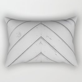 Wooden pattern - arrow shape, art decor Rectangular Pillow