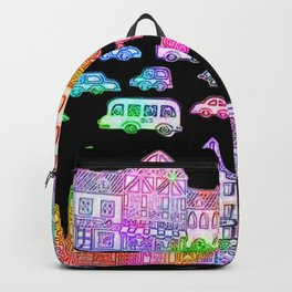 Colorful Town Backpack