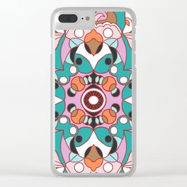 Flower with pattern Clear iPhone Case