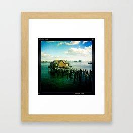 Abandoned Pier - Boston Framed Art Print