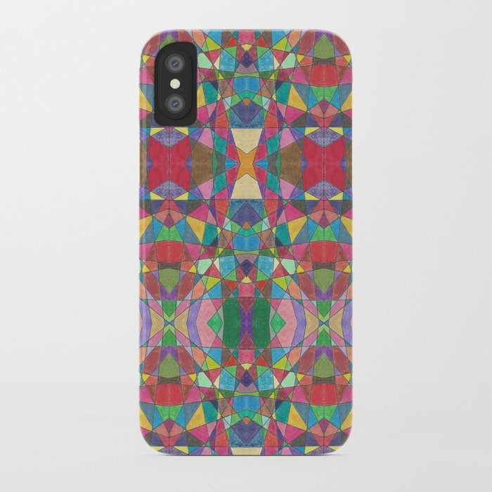 Criss Cross Colorful iPhone Case