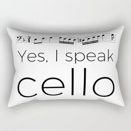 I speak cello Rectangular Pillow