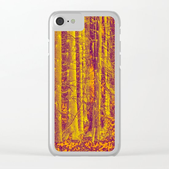 In the middle of the forest Clear iPhone Case