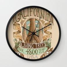 California Vintage Postage Stamp Wall Clock