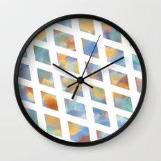 Watercolor Diamonds Wall Clock