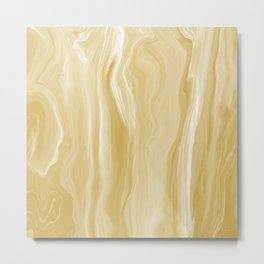 Marblesque Yellow Gold - Abstract Art Marble Series Metal Print
