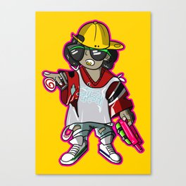 Rebel wild child Canvas Print