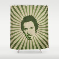 boss Shower Curtains featuring The Boss by Durro