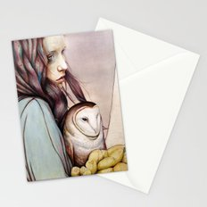 The Girl and the Owl Stationery Cards