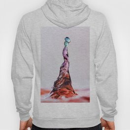 Blue and Pink water drop splash 9601 Hoody