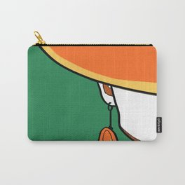 Half-Face of Lady Portrait Art Print Carry-All Pouch