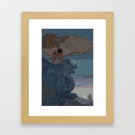 Perched Angels Framed Art Print