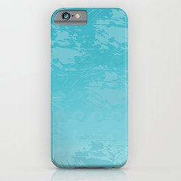 Icy Blue Abstract iPhone Case
