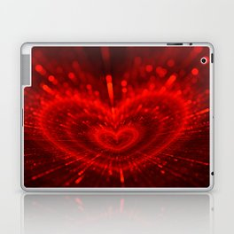 Cupid's Arrows   Valentines Day   Love Red Black Heart Texture Pattern Laptop & iPad Skin