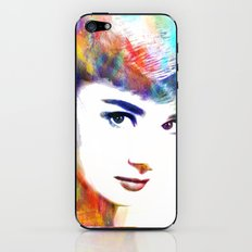 Audrey Hepburn iPhone & iPod Skin