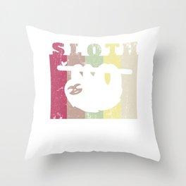 Retro Sloth Design or Men Women Kids Throw Pillow