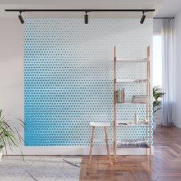 Blue halftone pattern Wall Mural