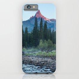 Pilot Peak - Mountain Scenery at Sunrise in Northeastern Yellowstone iPhone Case