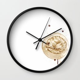 Coffee sleeping fox Wall Clock