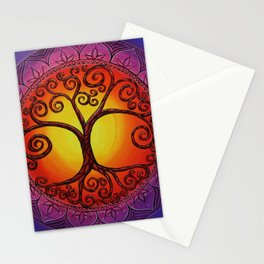 Tree of Life Mandala Stationery Cards