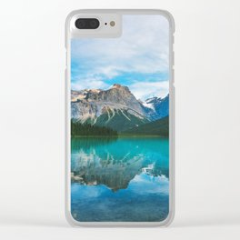 The Mountains and Blue Water - Nature Photography Clear iPhone Case