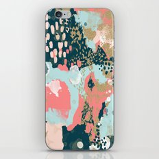 Eisley - Modern fresh abstract painting in bright colors perfect for trendy girls decor college iPhone Skin