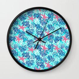 sea and star fish pattern Wall Clock