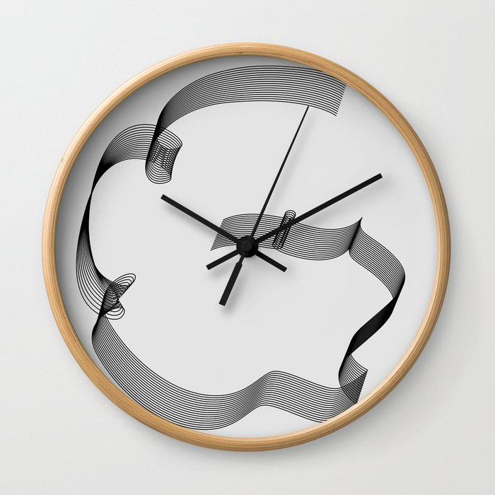 ''Dove Collection'' - Minimal Letter G Print Wall Clock