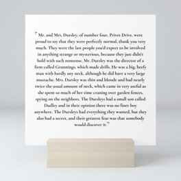 mr. and mrs. dursley Mini Art Print