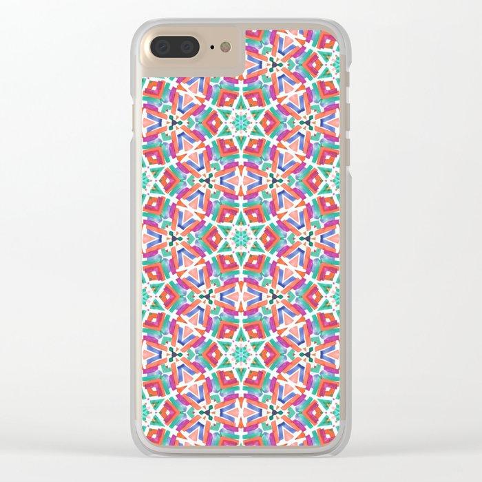 Watercolor Boho Dash 1 Clear iPhone Case