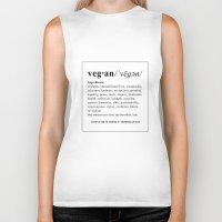 vegan Biker Tanks featuring vegan by Cindy Lepage