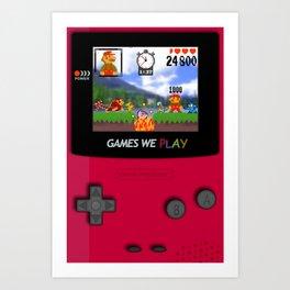 games we play Art Print