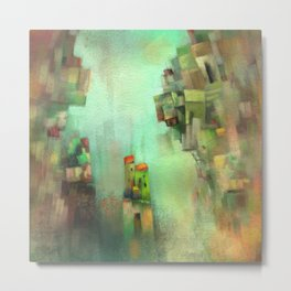 Village on the rocks Metal Print