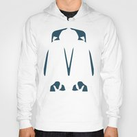 army Hoodies featuring Penguin Army by Sarah Jane Jackson