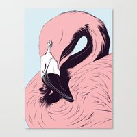 flamingo Canvas Prints featuring Flamingo by CranioDsgn