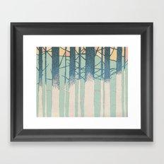 Fibonacci Trees Framed Art Print