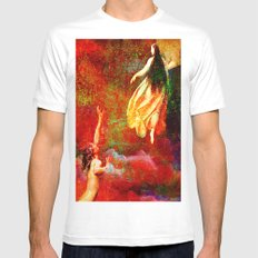 The farewells of the siren to the angel Uriel MEDIUM White Mens Fitted Tee