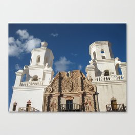 Mission Church beneath Tuscon Sky Canvas Print